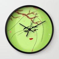 mulan Wall Clocks featuring Mulan by Tiffany Taimoorazy