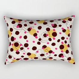 Dots + leaves Rectangular Pillow