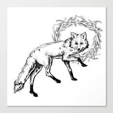Fox King Canvas Print