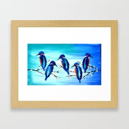 Kingishers Framed Art Print
