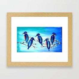 Kingishers Framed Art Print