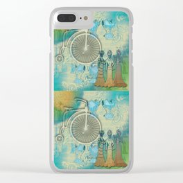 Vintage Bicycle and Corsets Clear iPhone Case