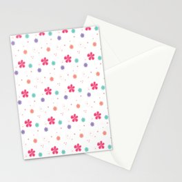 Flowers in white Stationery Cards