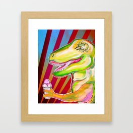 dinos need icecream Framed Art Print