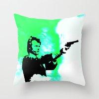clint barton Throw Pillows featuring Clint by Fimbis