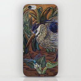 Great Blue Heron with Snapper iPhone Skin