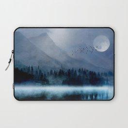 Mountainscape Under The Moonlight Laptop Sleeve