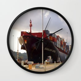 Cargo ship Wall Clock
