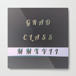 Grad '17 Metal Print