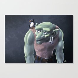 Ogre and Parrot Canvas Print