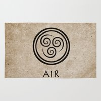 the last airbender Area & Throw Rugs featuring Avatar Last Airbender - Air by bdubzgear