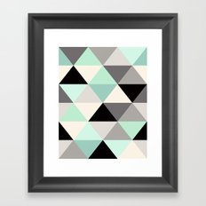 Mint Geo Framed Art Print