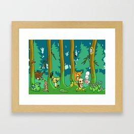 Deep inside the Forest Framed Art Print