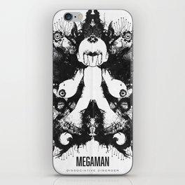 Megaman Geek Ink Blot Test iPhone Skin