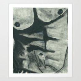 Twisted Torso Art Print