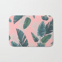 Tropical Leaf Pattern Bath Mat