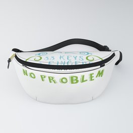 88 Keys 10 Fingers No Problem Piano Player Jazz Blues Classical Music Fanny Pack