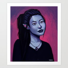Portrit of Amara Art Print