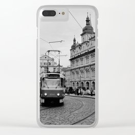 Cobbled Street in Prague Clear iPhone Case