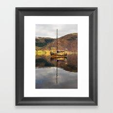 Sailboat Reflections Framed Art Print