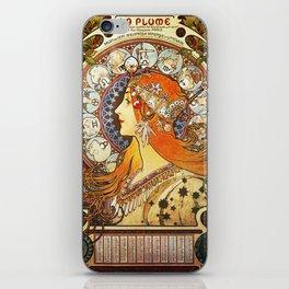 Alphonse Mucha La Plume Zodiac iPhone Skin