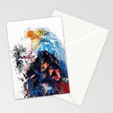 Drippy Jazzy Bald Eagle Colorful Bird Art by Jai Johnson Stationery Cards