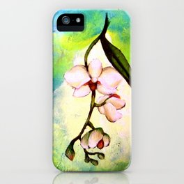 Convergency: Orchid Drapes iPhone Case