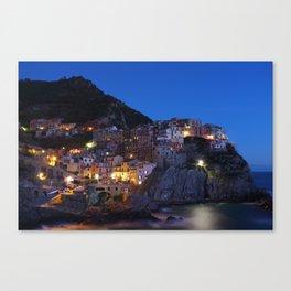 Cinque Terre Italy at night Canvas Print