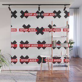 Stop Aids_01 by Victoria Deregus Wall Mural