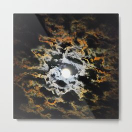 Tiger Full Moon Metal Print