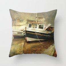 Misty Harbour Throw Pillow