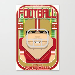 American Football Red and Gold - Enzone Puntfumbler - Victor version Canvas Print