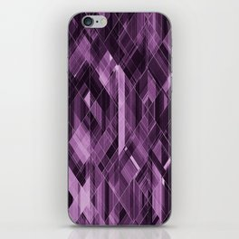 Abstract violet pattern iPhone Skin