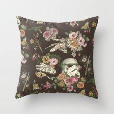 Botanic Wars Throw Pillow