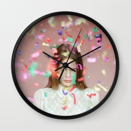 unexpected happiness Wall Clock