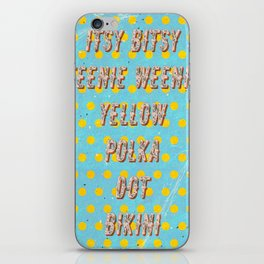 Itsy Bitsy Teenie Weenie Yellow Polka Dot Bikini - The Bikini celebrates its 70th Birthday iPhone Skin