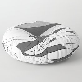 Picasso - On the beach (Grey) Floor Pillow