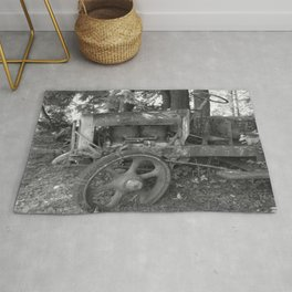 Final Resting Place Old Tractor Rug