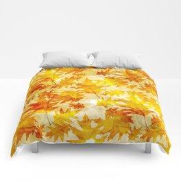 Autumn Oak Leaves Pattern Comforters