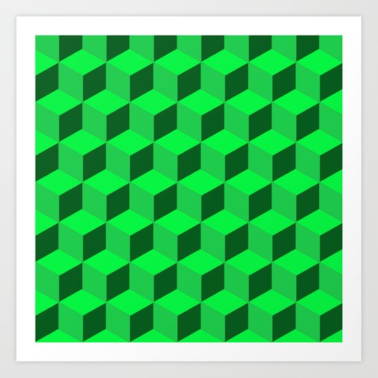 Geometric Series (Green)  Art Print