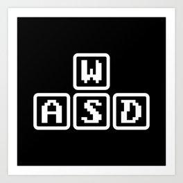 WASD Art Print