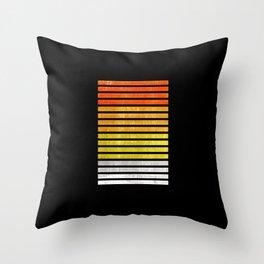 Color blocks textured - Digital Illustration Throw Pillow