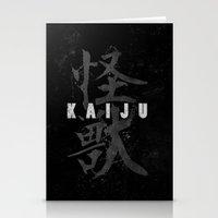 kaiju Stationery Cards featuring KAIJU by Mikio Murakami