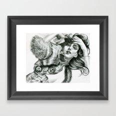 Lady In Fur Framed Art Print