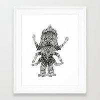 yeti Framed Art Prints featuring Yeti by Guice Mann
