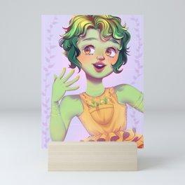 garden-witch magical girl Mini Art Print