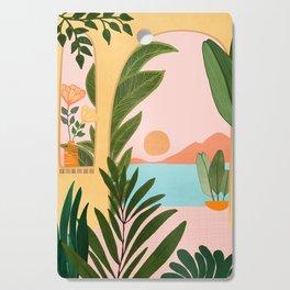 Moroccan Coast - Tropical Sunset Scene Cutting Board