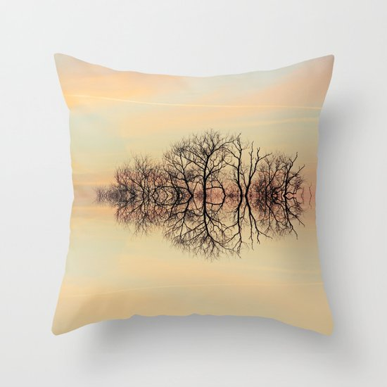 Angelic Branches Throw Pillow