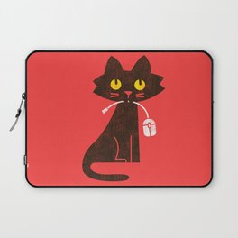 Fitz - Hungry hungry cat (and unfortunate mouse) Laptop Sleeve