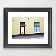 Dutch door and window Framed Art Print